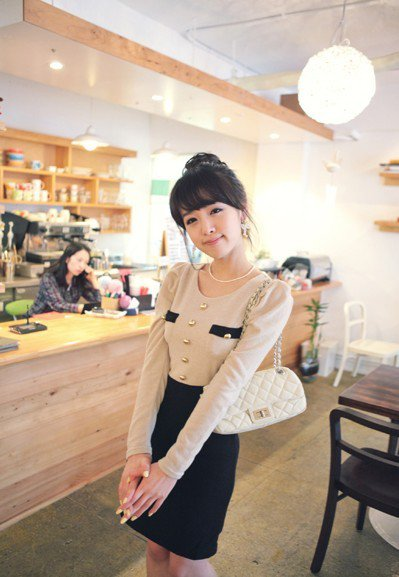 Dress knitted cotton