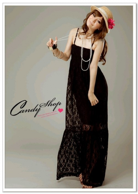 ROMANTIC LACEY LONG DRESS